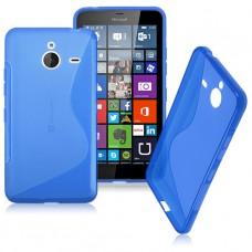 Синий силиконовый чехол для Nokia Lumia 640XL
