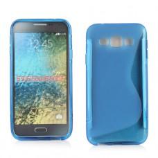 Синий силиконовый чехол для Samsung Galaxy E5