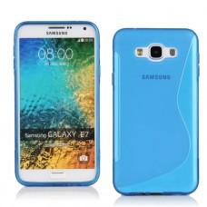 Синий силиконовый чехол для Samsung Galaxy E7