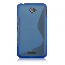 Синий силиконовый чехол для Sony Xperia E4