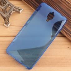 Синий силиконовый чехол для Xiaomi Mi4