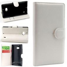 Белый чехол книжка для Nokia Lumia 930