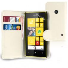Белый чехол книжка для Nokia Lumia 520/525