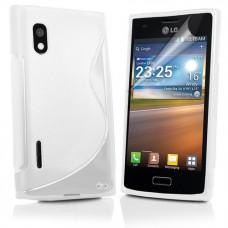Белый гелевый чехол для LG Optimus L5