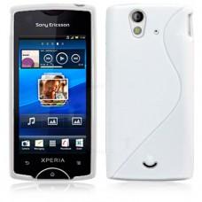 Белый силиконовый чехол для Sony Xperia ray st18i