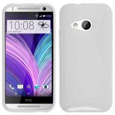 Белый силиконовый чехол для HTC One mini 2