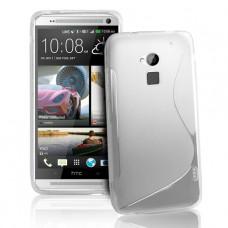 Белый силиконовый чехол для HTC One Max