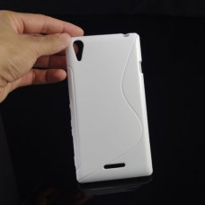 Белый силиконовый чехол для Sony Xperia T3