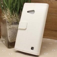 Белый чехол книжка для Nokia Lumia 730/735