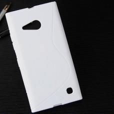 Белый силиконовый чехол для Nokia Lumia 730/735