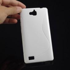 Белый силиконовый чехол для Huawei Honor 3C
