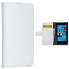 Белый чехол книжка для Nokia Lumia 720