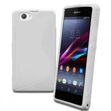 Белый силиконовый чехол для Sony Xperia z1 compact