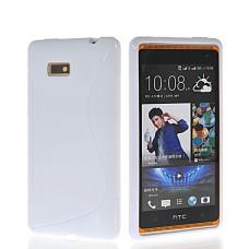 Белый силиконовый чехол для HTC Desire 600/606w