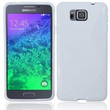 Белый силиконовый чехол для Samsung Galaxy Alpha