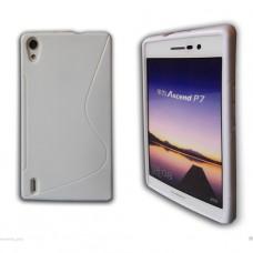 Белый силиконовый чехол для Huawei Ascend P7