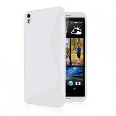Белый силиконовый чехол для HTC Desire 800/816