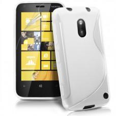 Белый силикноновый чехол для Nokia Lumia 620