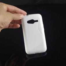 Белый силиконовый чехол для Samsung Galaxy Ace 4 Lite