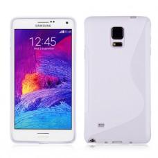 Белый силиконовый чехол для Samsung Galaxy Note 4