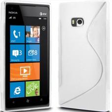 Белый силиконовый чехол для Nokia Lumia 900
