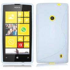Белый силиконовый чехол для Nokia Lumia 520/525