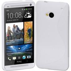 Белый силиконовый чехол для HTC One (M7)