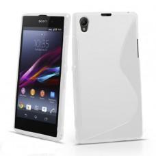Белый силиконовый чехол для Sony Xperia Z c6603