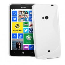 Белый силиконовый чехол для Nokia Lumia 625