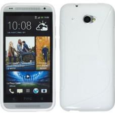 Белый силиконовый чехол для HTC Desire 601