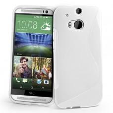Белый силиконовый чехол для HTC One m8/m8s