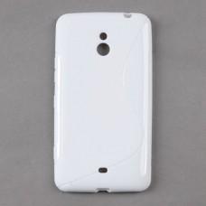Белый силиконовый чехол для Nokia Lumia 1320