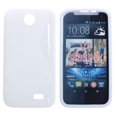 Белый силиконовый чехол для HTC Desire 310