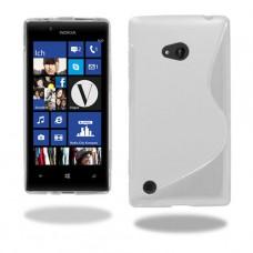 Белый силиконовый чехол для Nokia Lumia 720