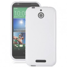 Белый силиконовый чехол для HTC Desire 510