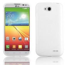 Белый силиконовый чехол для LG L90