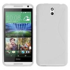 Белый силиконовый чехол для HTC Desire 610