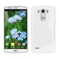Белый силиконовый чехол для LG G3 (D855)