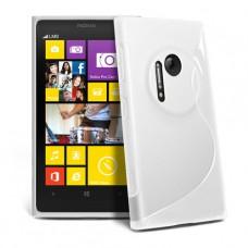 Белый силиконовый чехол для Nokia Lumia 1020