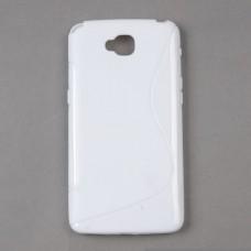 Белый силиконовый чехол для LG G Pro lite dual