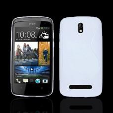 Белый силиконовый чехол для HTC Desire 500