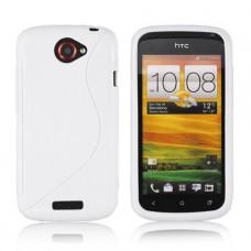 Белый силиконовый чехол для HTC One X/One X+