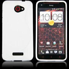 Белый силиконовый чехол для HTC Butterfly S