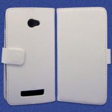 Белый чехол книжка для HTC Windows Phone 8X