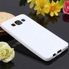 Белый силиконовый чехол для Samsung Galaxy A3
