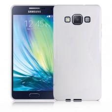 Белый силиконовый чехол для Samsung Galaxy A5