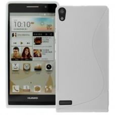 Белый силиконовый чехол для Huawei Ascend P6