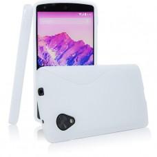 Белый силиконовый чехол для LG Nexus 5