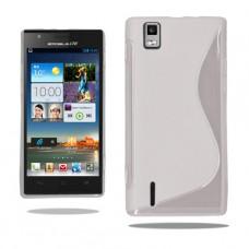 Белый силиконовый чехол для Huawei Ascend P2