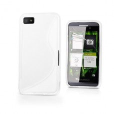 Белый силиконовый чехол для BlackBerry z10